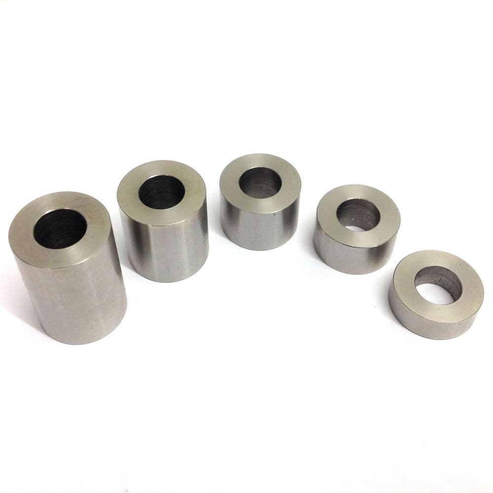 "M10 x 20mm O/D x 1/2"" Length Spacers - 303 Stainless Steel"